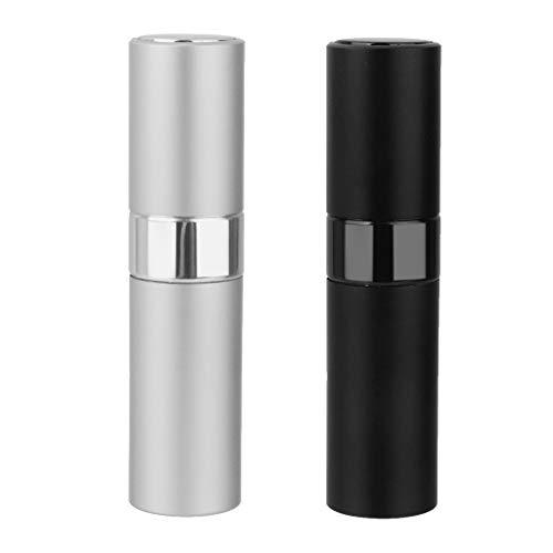 Homyl 2pièces 8ml Voyage Portable Mini Flacon Pulvérisateur Échantillon Parfum de Cosmétique Atomiseur de Parfum Vide