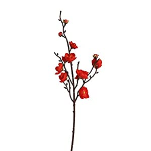 Artificial Winter Plum Blossom Flowers, Plastic Faux Flowers Plants Bouquets, TOPUUTP Indoor Outdoor Home Office Garden Patio Yard Table Wedding Party Farmhouse Centerpieces Pot Decor
