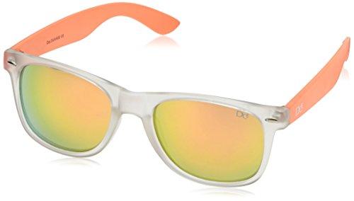 Dice Sonnenbrille, Clear/Orange, One Size