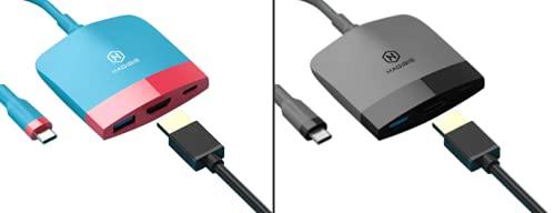 Estación de acoplamiento portátil para Nintendo Switch adaptador de TV - USB-C HDMI USB 3.0 NS Accesorios Host Base de carga para interruptor (clásico)