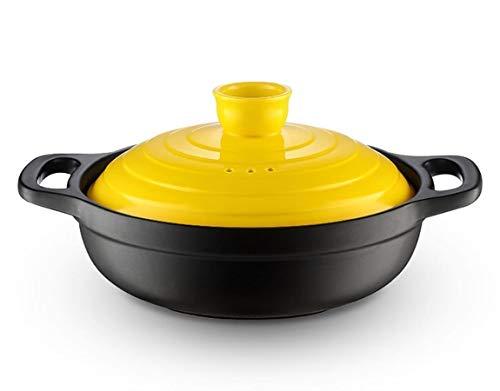 Samer Small Casserole Claypot Rijst Hittebestendige Droog Pot Keramische Stoofpot Pot Stoofpot Koreaanse Wok Restaurant Wok Stoofpot Gele Stoofpot Kip 0.9L