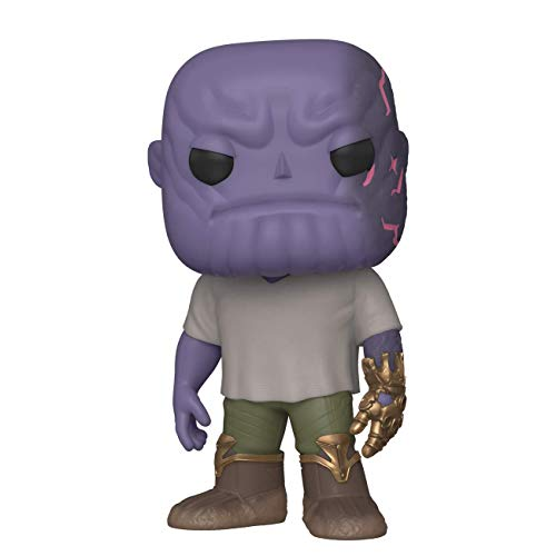 Funko- Pop Marvel: Endgame-Casual Thanos w/Gauntlet Collectible Toy, Multicolor (45141)
