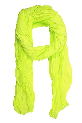 Italienischer Schal Blanca uni in toller neon Farbe 200cm x 80cm