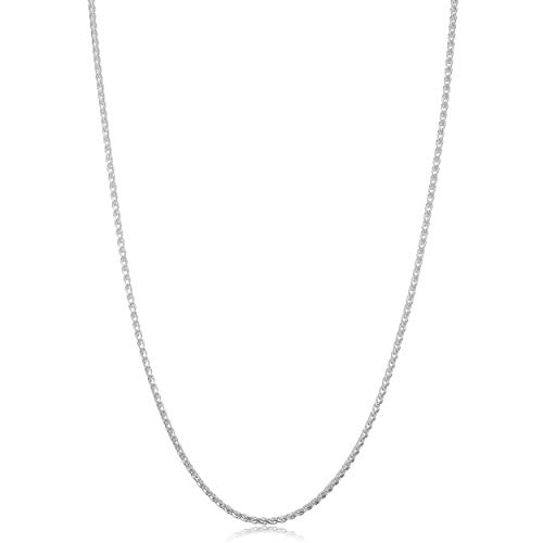 Kooljewelry Sterling Silver Round Wheat Chain Necklace (1.5 mm, 24 inch)