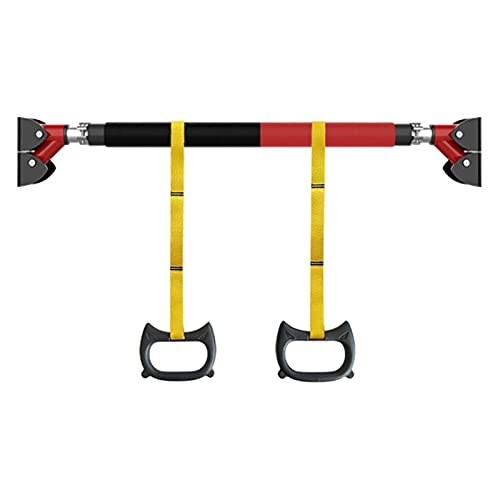 FACAZ Barra de tracción Barra de tracción portátil de Acero, Barra Horizontal de Fitness de 93-124 cm, Equipo aeróbico de Entrenamiento de Fuerza Multiusos, para Adultos y niños, sin Golpes