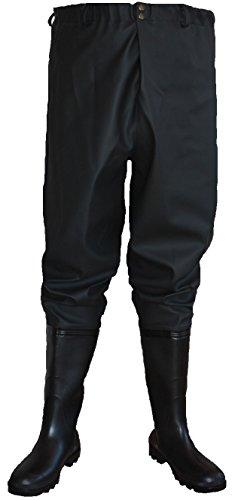 Pantalones de pesca, zancudas, zancudas, pescadores, 39 EU - color negro, botas...