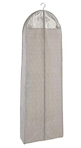 WENKO Sacco portabiti Balance - Custodia per indumenti, protezione sicura, custodia per completi uomo e abiti, Polipropilene, 60 x 180 cm, Tortora
