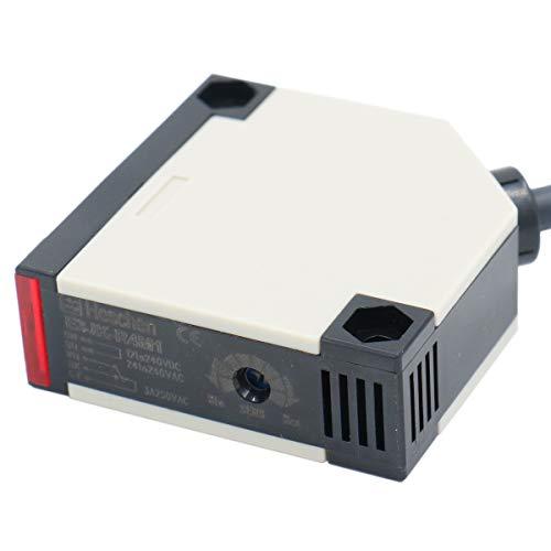 Heschen Interruptor fotoeléctrico E3JK-R4M1 24-240VAC/12-240VDC Distancia de detección 4m con panel reflector