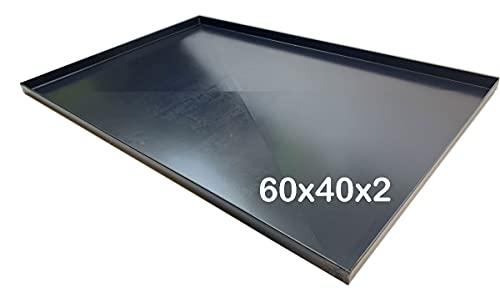 Teglia forno 60x40x2 Cm, bordo 2 cm con diagonale Spessore teglie 8/10 Pizza alta idratazione ideale per professionisti della pizza focaccia