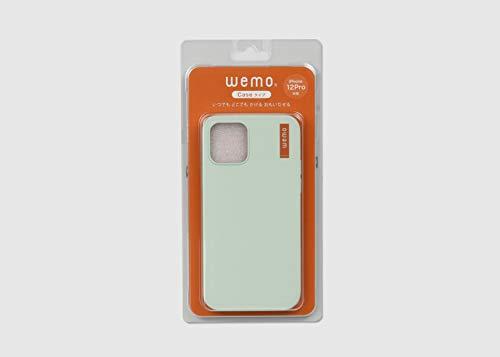 wemoケースタイプ(iPhone12/12Pro,ペールグリーン)