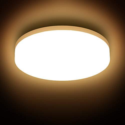 B.K.Licht I LED Deckenleuchte I spritzwassergeschützt IP54 I 13W LED Platine I 3.000K warmweiße Lichtfarbe I Ø22cm I Badezimmerlampe I Deckenlampe I Badleuchte
