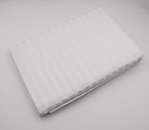 HTE Funda de Colchón Cutí Raso Blanco con Cremallera (Blanco, 135 x 190 cm)