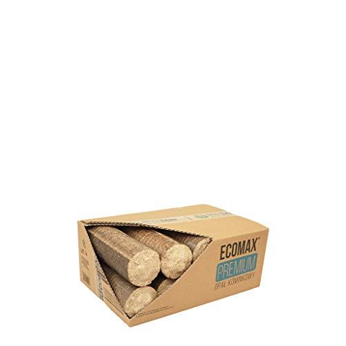 ECO-PAL ECOMAX PREMIUM ökologisches Holzbrikett, Kamin Ofen Brennstoff aus Eiche und Buchesägespänen, lange Brenndauer, Zertifiziert, in verschiedenen Gewichtsoptionen (12 kg)