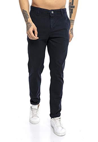 Redbridge Pantalons Classique pour Homme Pants en Coton Straight Leg Bleu foncé W38 L32
