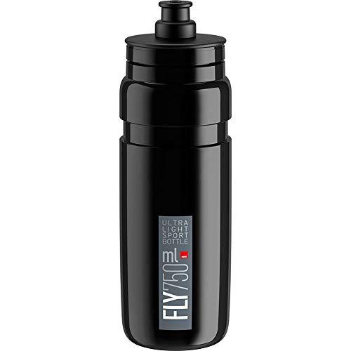 Elite Unisex-Fliegen-Wasserflasche, Schwarz, 750 ml
