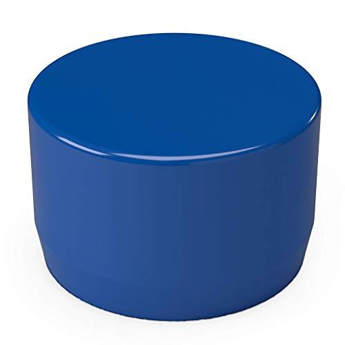 "FORMUFIT F012EEC-BL-10 PVC External End Cap, Furniture Grade, 1/2"" Size, Blue (Pack of 10)"