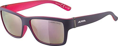 ALPINA KACEY Sportbrille, Unisex– Erwachsene, nightshade matt-pink, one size