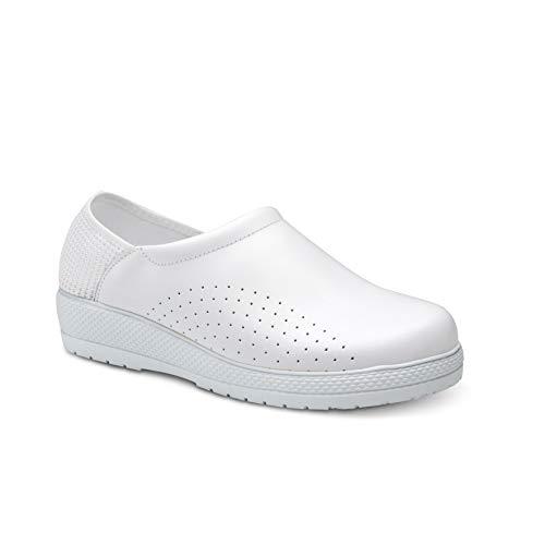 Feliz Caminar - Zapatos Sanitarios Levante Blanco, 38 - Naturfly
