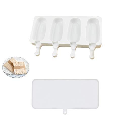 Silikon Eisformen, EIS am Stiel mit 50 EIS am Stiel, BPA-freie Eisformen, geeignet für Kinder, Babys und Erwachsene