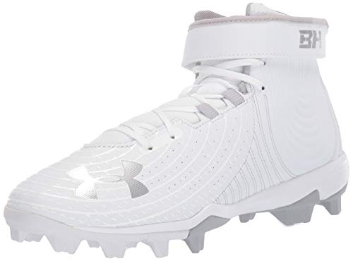 Under Armour mens Harper 4 Mid Rm Baseball Shoe, White (101 White, 7.5 US