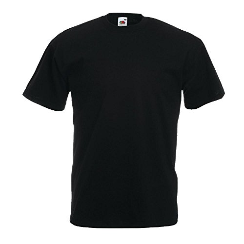 Valueweight T-Shirt von Fruit of the Loom Schwarz XXXL