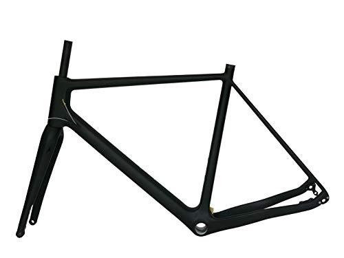 Flyxii Full Carbon Toray Matt Cyclocross Telaio Bici 58 cm CX Freno a Disco BSA Telaio 12 mm * 142 mm + Cross Bicicletta Forcella 12 mm * 100 mm Asse passante