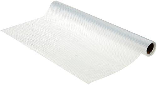 WENKO 47046100 Anti-Rutsch-Matte Noppen Transparent, Schubladeneinlage, zuschneidbar, geräuschdämpfend, Ethylenvinylacetat, 50 x 150 cm, Transparent