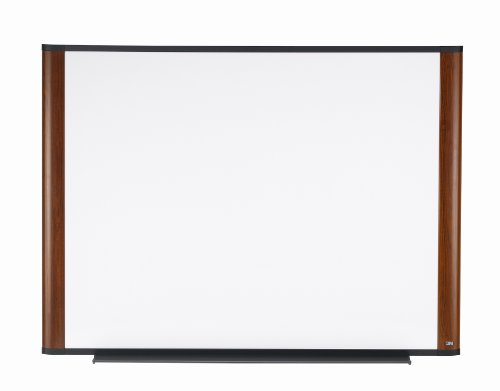 3M Dry Erase Board, 48 x 36-Inches, Widescreen Mahogany-Finish Frame