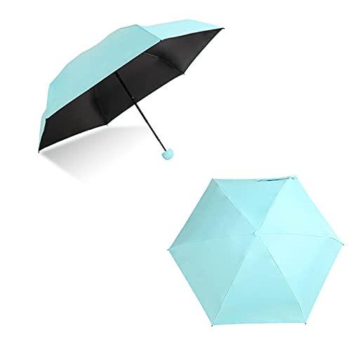 Valink Paraguas de bolsillo, mini paraguas de cápsula ligera lluvia sol paraguas de bolsillo anti-uv plegable