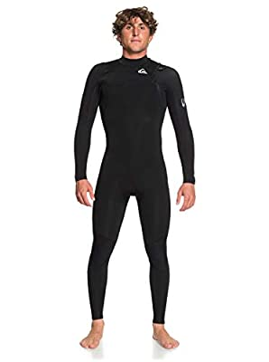 Quiksilver Mens 4/3Mm Syncro - Chest Zip GBS Wetsuit for Men Chest Zip GBS Wetsuit