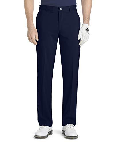 Izod Pantalones de Golf para Hombre con Parte Delantera Plana y Ajuste Delgado para Corte básico de microsarga, Midnight, 29W x 30L