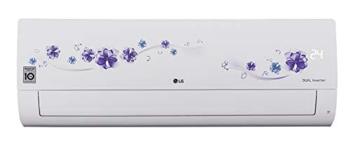 LG 1 Ton 5 Star Inverter Split AC (Copper, KS-Q12FNZD, Floral White)