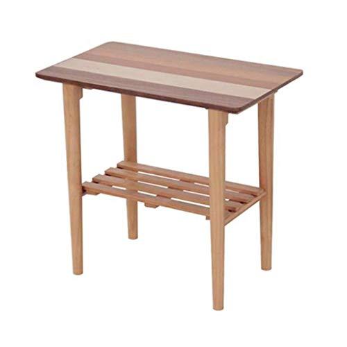 Mesa de Centro Café Mesa Auxiliar Tabla de madera del sofá, tabla pequeña 50 * 55 * 32.5cm del almacenamiento de la sala de estar del escritorio del pequeño dormitorio multifuncional de la tabla Mesa