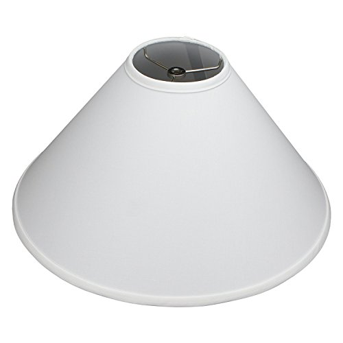 FenchelShades.com Lampshade 5' Top Diameter x 18' Bottom Diameter x 11' Slant Height with Washer (Spider) Attachment for Lamps with a Harp (White)