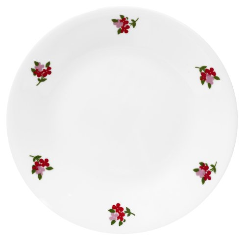Corelle Livingware 6-3/4-Inch Bread and Butter Plate, Red Floral