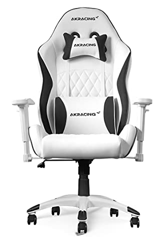 Akracing Chair California Laguna - Sedia da Gaming in Ecopelle, Colore Bianco, Taglia Unica