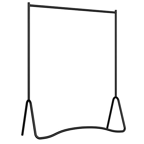 XINGLL Sturdy Iron Garment Rack, Space Saving Coat Stand Clothes Organizer, for Entryway Hall Bedroom (Color : Black, Size : 90cm)