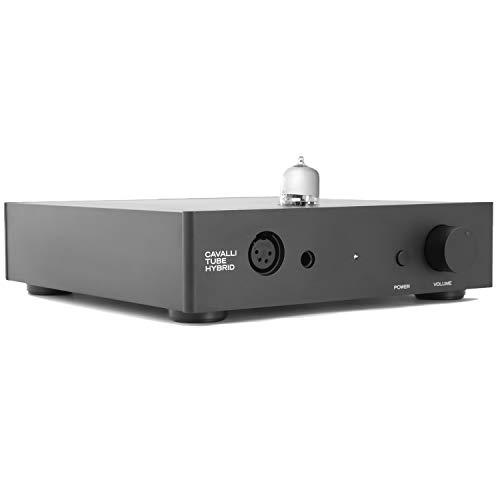 Massdrop x Alex Cavalli Hybrid Desktop Tube Amp - Audiophile Headphone Stereo Amplifier (CTH), 8.3 x 9.1 x 2.2 in, Black
