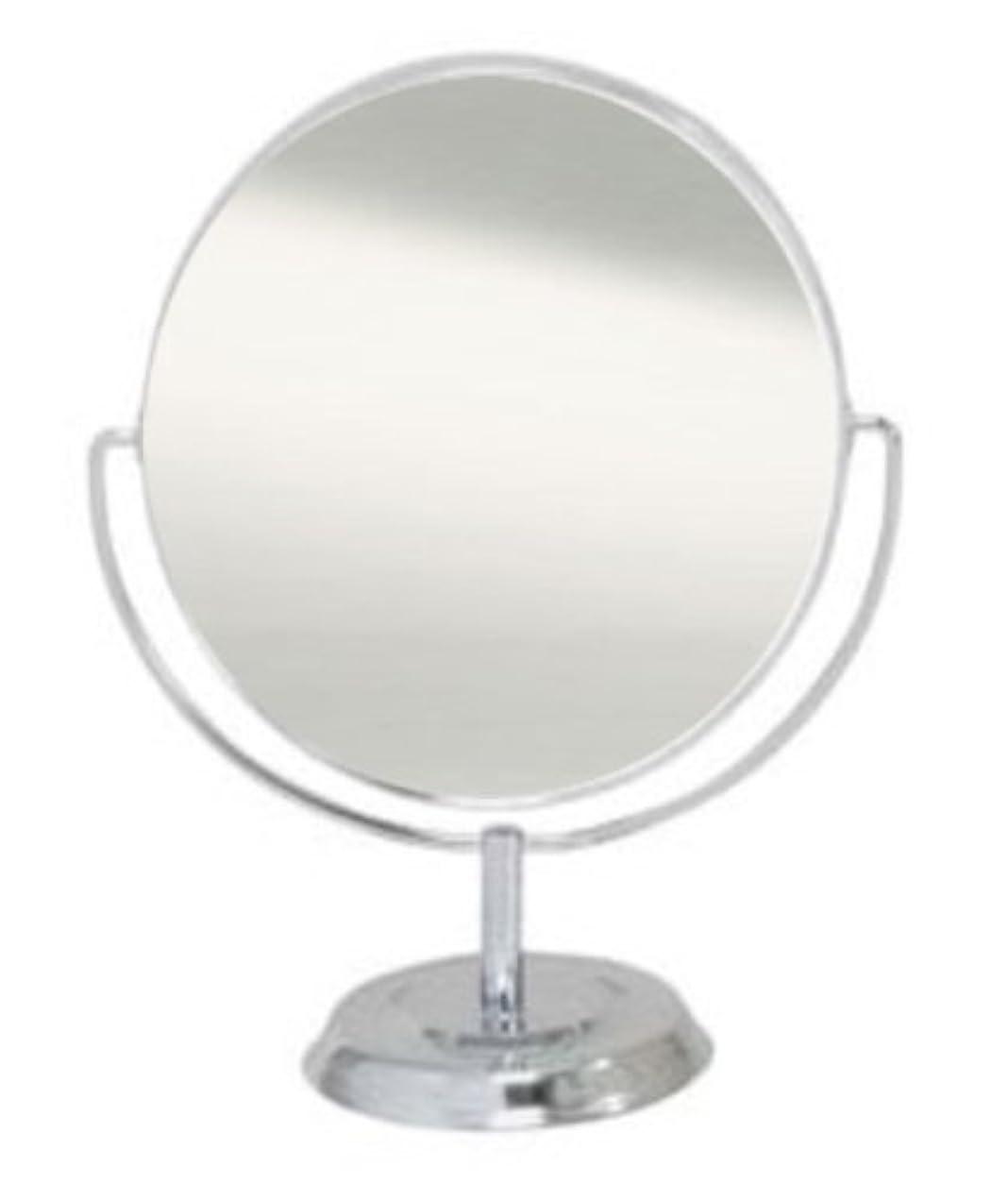 シャワーネズミ条約メリー 片面約3倍拡大鏡付両面鏡卓上ミラー シルバー No.5870