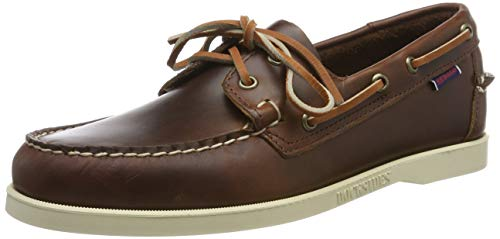 Sebago Docksides Portland Waxed, Men's 70000G0 Boat Shoes (Brown 900) 6.5 UK