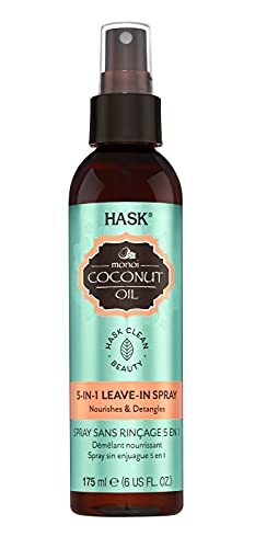 HASK COCONUT MONOI 5-in-1 Leave-In Conditioner Nourishing for all hair types, color safe, gluten-free, sulfate-free, paraben-free