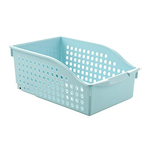 QKFON Caja de almacenamiento para gabinete, cesta de almacenamiento con ruedas, suministros de cocina para debajo del fregadero, cesta de almacenamiento extraíble, cesta de almacenamiento deslizante