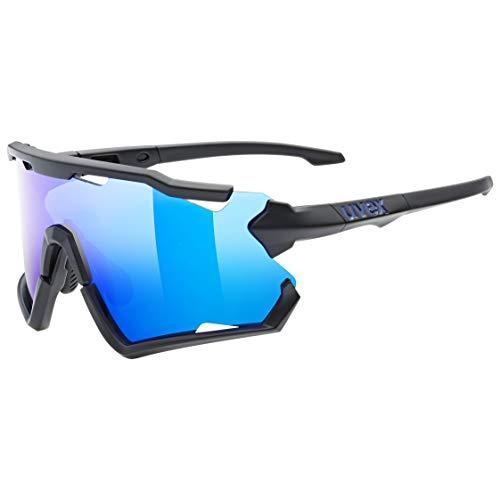 uvex Sportstyle 228 Gafas de Deporte, Unisex-Adult, Black Mat/Blue, One Size