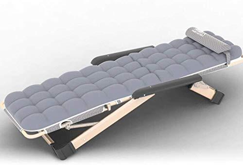ADHW - Tumbona reclinable exterior, funda de cojín reclinable, silla larga, columpio, exterior jardín, Gris