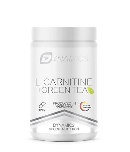 Abnehm Tabletten L-Carnitin + Green Tea für die Fettverbrennung Grüner Tee Tabletten   Schützt vor Übergewicht und hilft beim Abnehmen   120 Kapseln von Dynamics   Grüntee