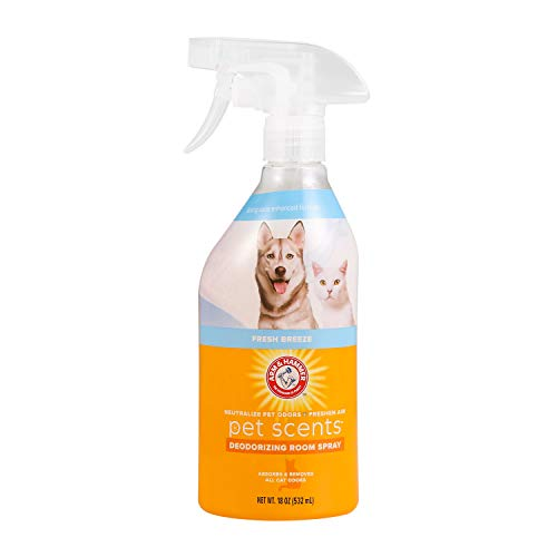 Arm & Hammer for Pets Air Care Pet Scents Room Spray for Pets in Fresh Breeze Scent | 18 oz Deodorizing and Neutralizing Air Freshener Spray to Safely Combat Pet Odors in The Home (FF12881)