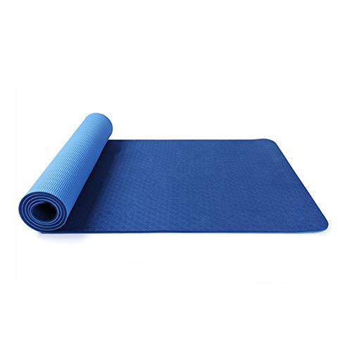 Agghan Anti-Rutsch-Sport Yoga-Matte Fitness-Studio zu verlieren Gewicht for eine Gymnastikmatte Fitness-Matte Männer Teppichfarbe Matten Pilates Gymnastik Anfänger Frauen. Y0903 (Color : Blue)