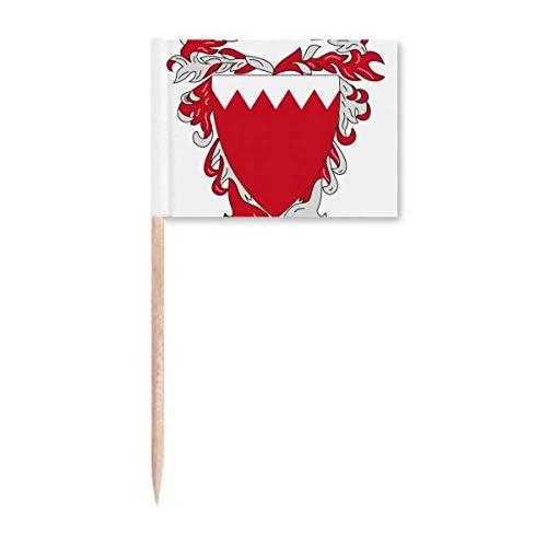 Manama Bahrain National Emblem Zahnstocher Flaggen Marker Topper Party Dekoration