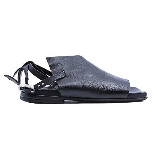 A.S. 98 A43001 - Sandalias de mujer de piel negra Negro Size: 39 EU