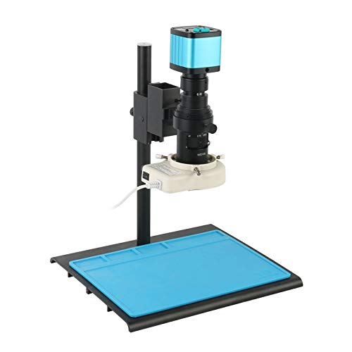 Yhtech. 4k 2K 1080p 48MP Industrielles Video-Labor HDMI USB-Mikroskop-Kamera IR-Fernbedienung 100x 200x 180x 300x-Objektiv für Telefon PCB-Reparatur (Color : 200X)